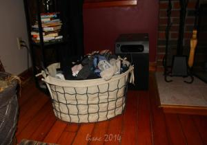 The ever present sock basket